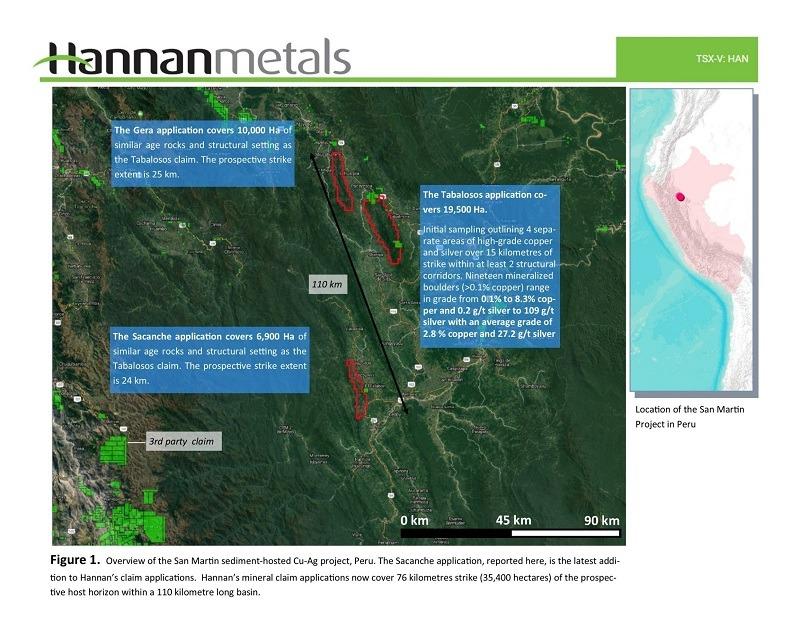 Hannan Metals Ltd--Hannan Secures an Additional 25 Kilometres of