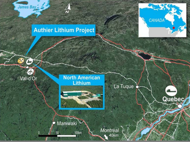 Authier Lithium Project