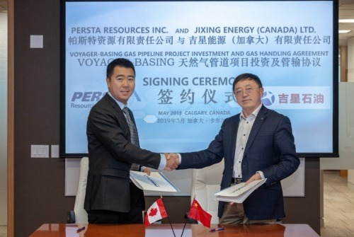 Persta enters into gas handling agreement with Jixing Energy