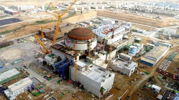 Outer dome installed for unit 2 at Karachi nuclear power plant