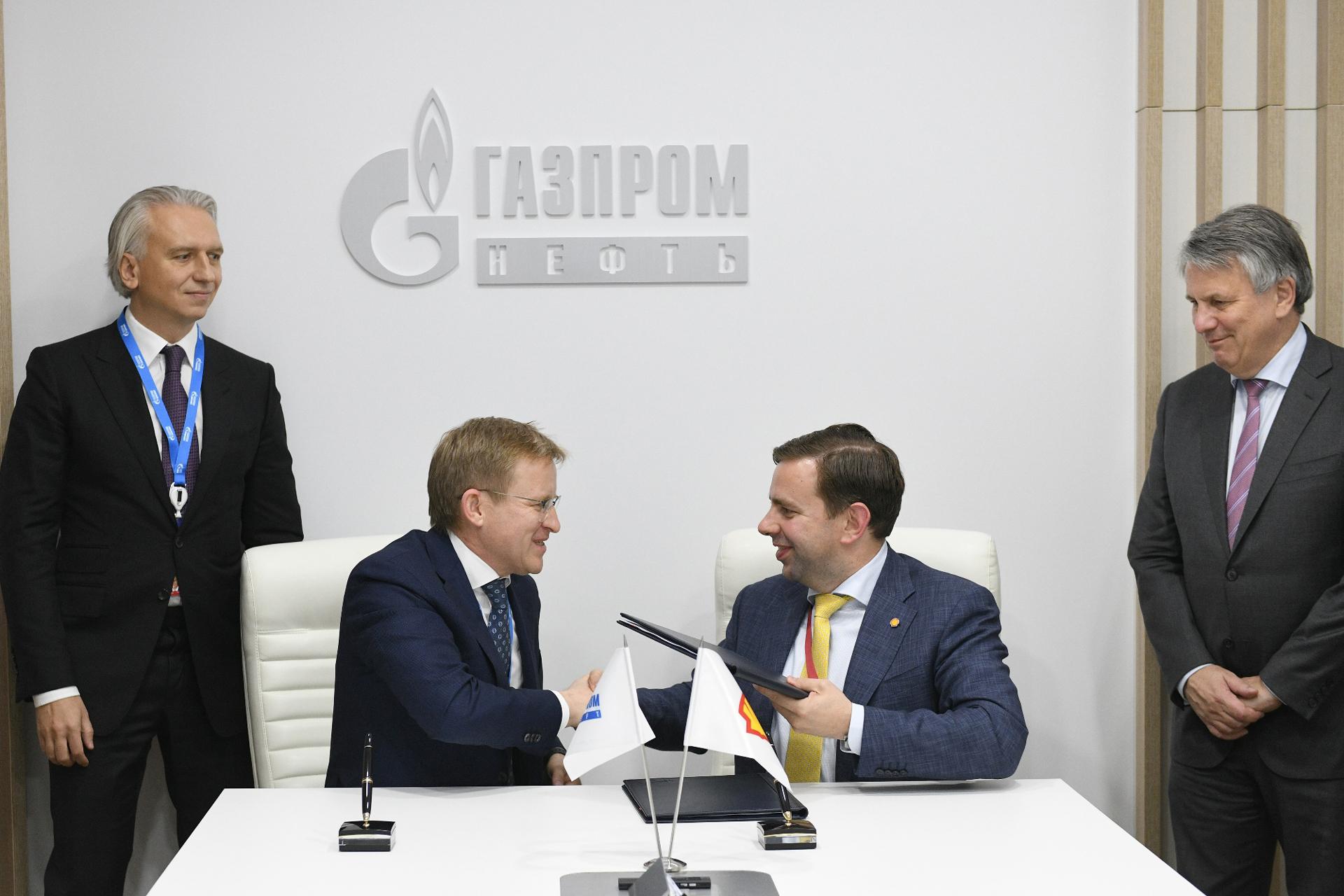 Gazprom Neft, Shell JV