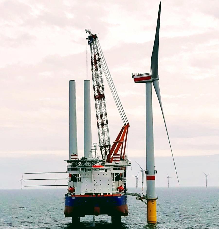 First 8.4 MW turbine installed in the Deutsche Bucht offshore wind farm