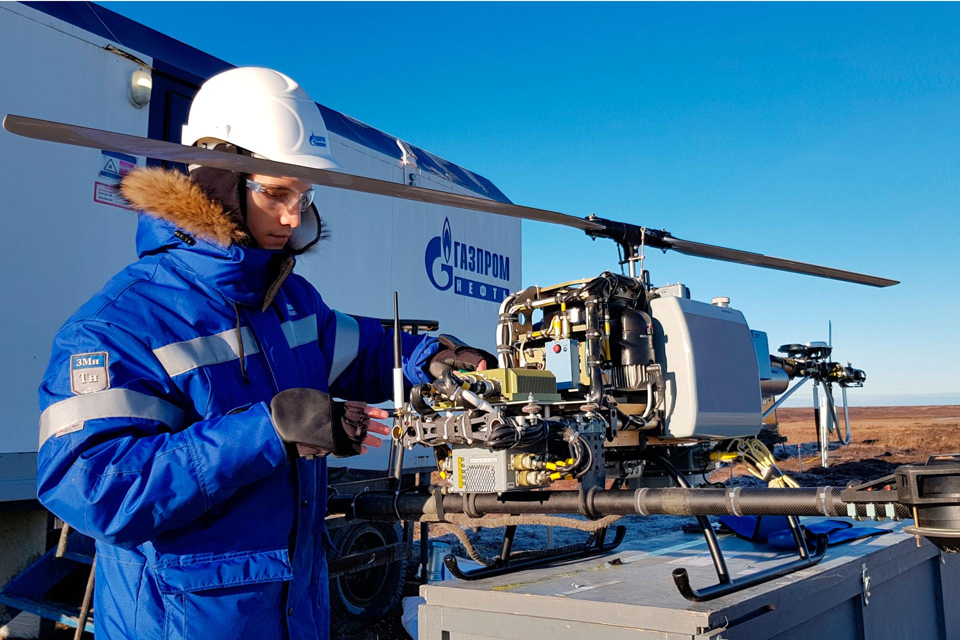 Gazprom Neft trials drones for hydrocarbon exploration
