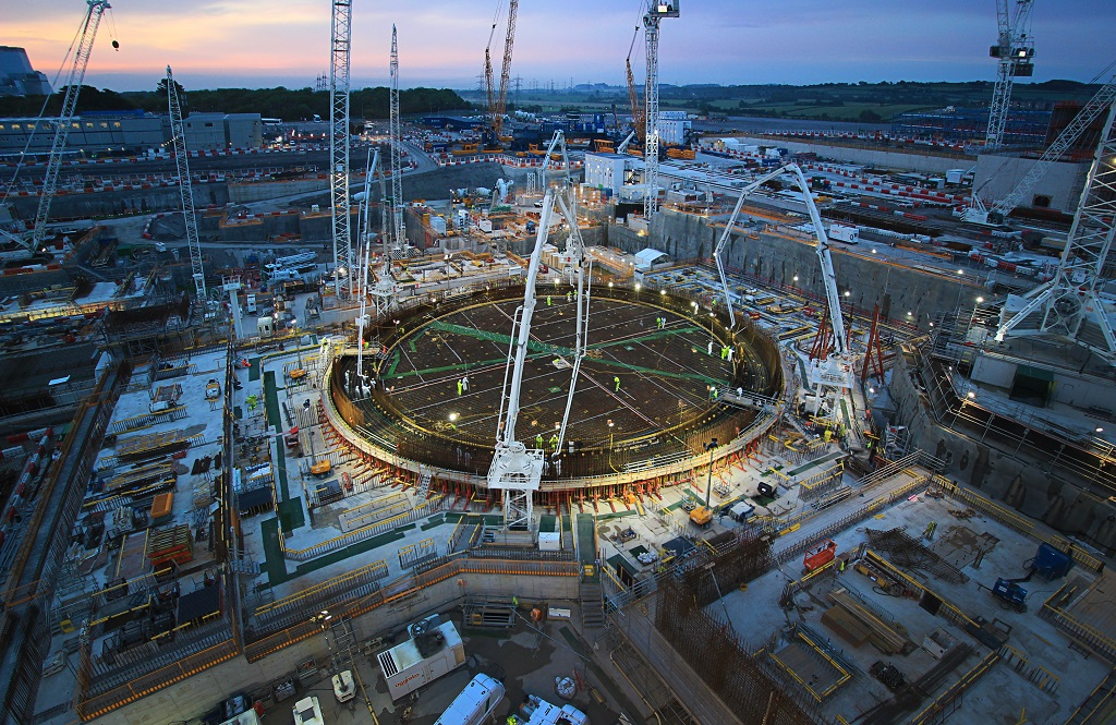 Hinkley Point C makes major progress with completion of 'J-zero' reactor base
