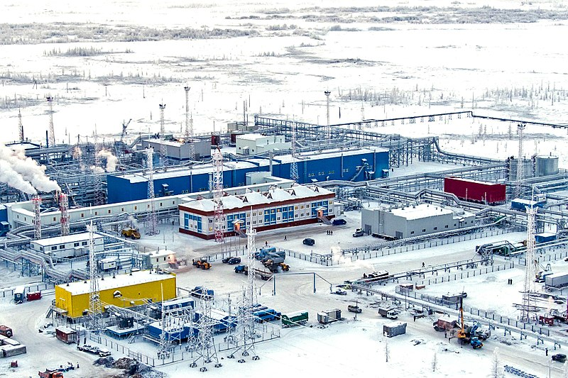 What are the largest natural gas fields in Russia?