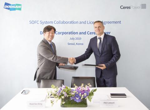 Ceres Power, Doosan partner to develop SOFC power system in South Korea