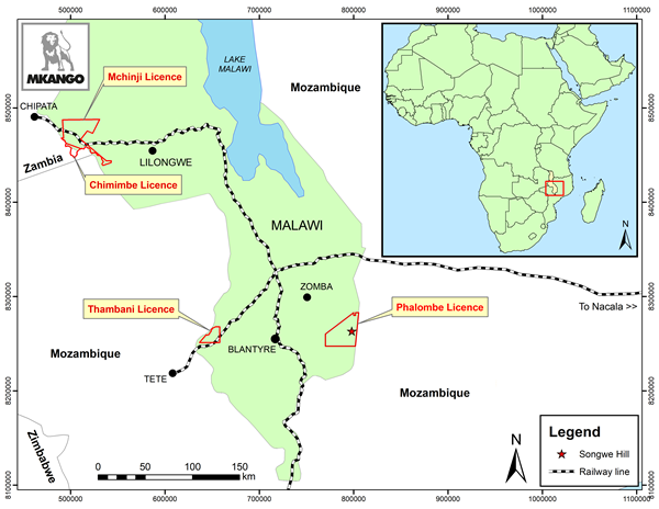 Mkango granted new exclusive prospecting licence in Malawi