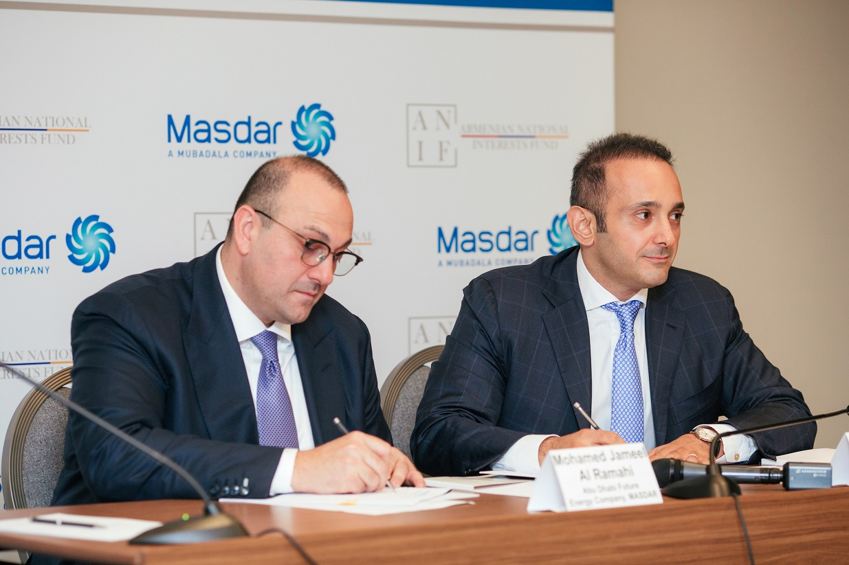 Masdar signs MOU with Armenia for 500MW renewable energy projects