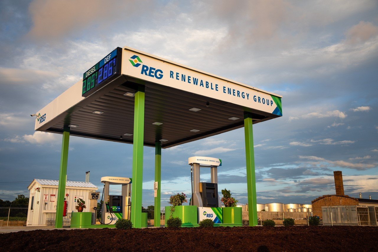 Renewable Energy Group opens first fuelling station