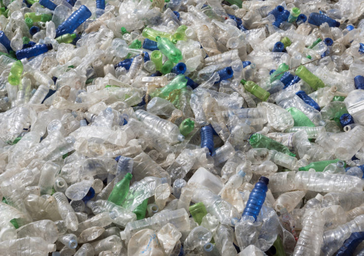Plastic bottle garbage recycling