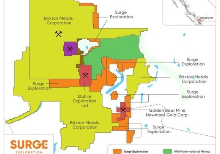 Surge acquires additional gold-copper mineral claims in British Columbia