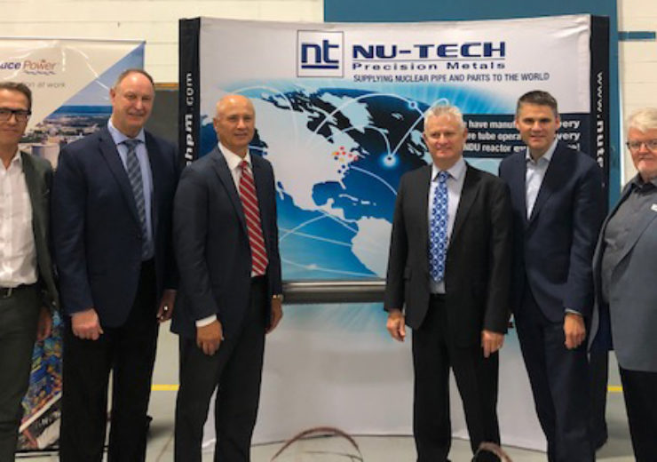 Nu-Tech to begin delivery of pressure tubes to Bruce Power's MCR project