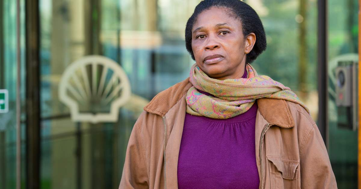 Esther Kiobel lost her husband in 1995 when the Ogoni Nine were hanged by the Nigerian government (Credit: Amnesty International)