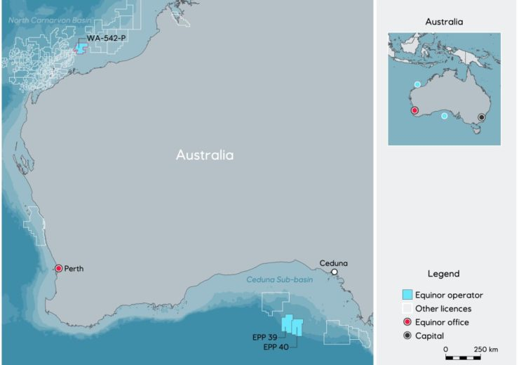 Equinor granted license for new exploration permit offshore Australia