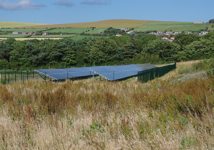 solar array at saltburn coal mine