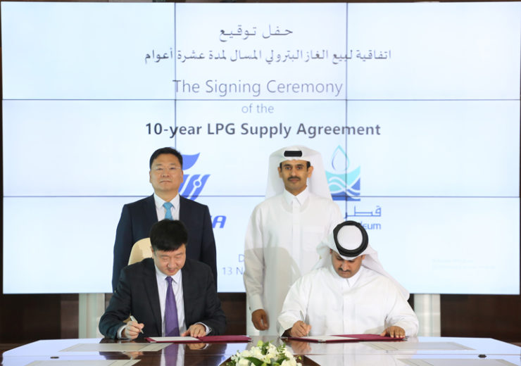 Qatar Petroleum announces a 10-year LPG supply agreement with China's Wanhua Chemicals