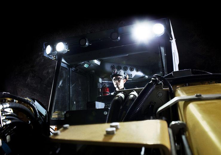 Operator in cabin of Boomer E2