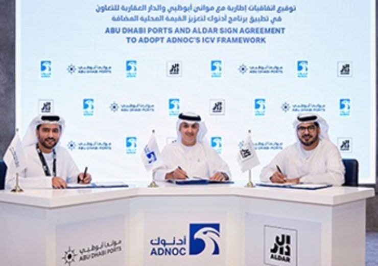 ADNOC signs agreements with Abu Dhabi Ports and Aldar Properties to adopt ADNOC's Successful In-Country Value Program
