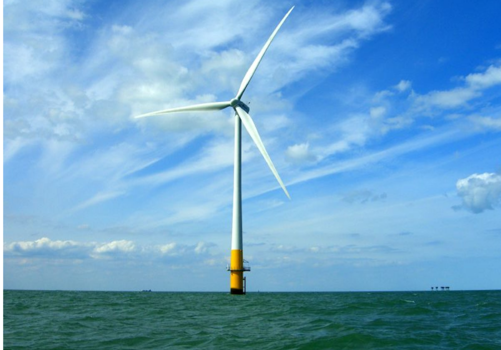 Off-shore wind turbine