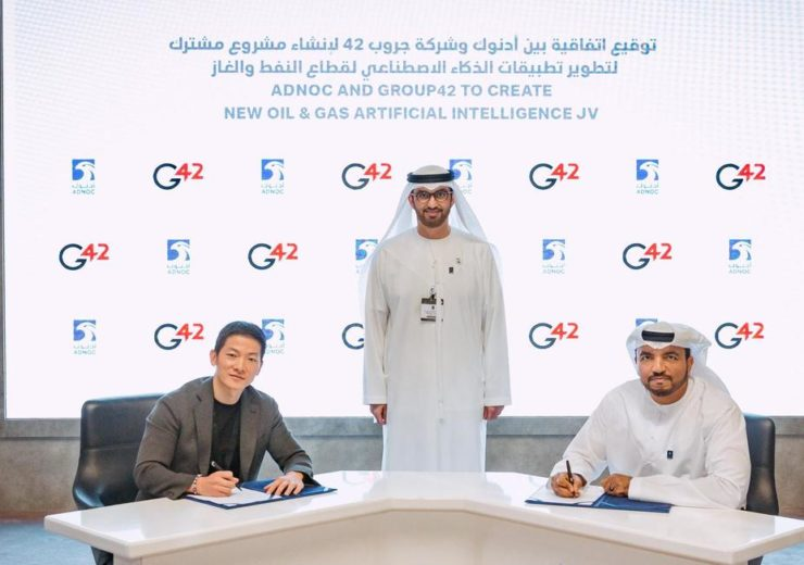 Adnoc partners with Group 42 to develop AI products for oil and gas industry
