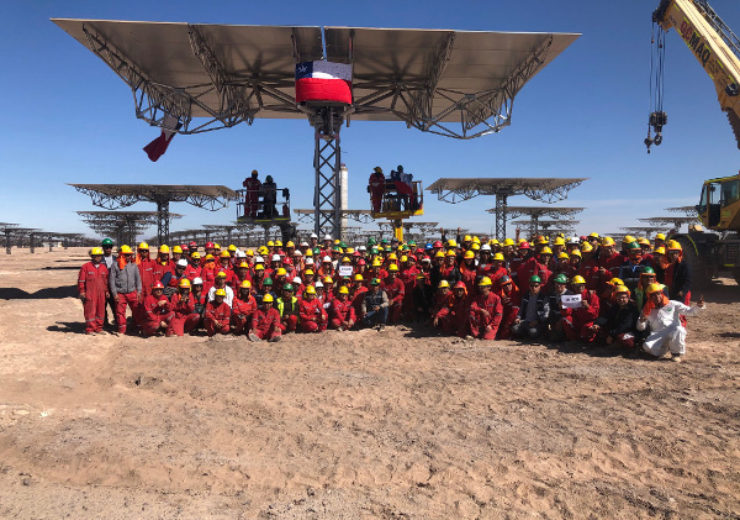Abengoa and Acciona celebrate the manufacturing and assembly of the last heliostat of Cerro Dominador