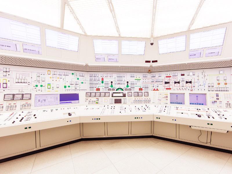 Kommandoraum vom Kernkraftwerk Beznau