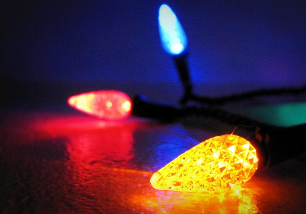 Christmas lights energy