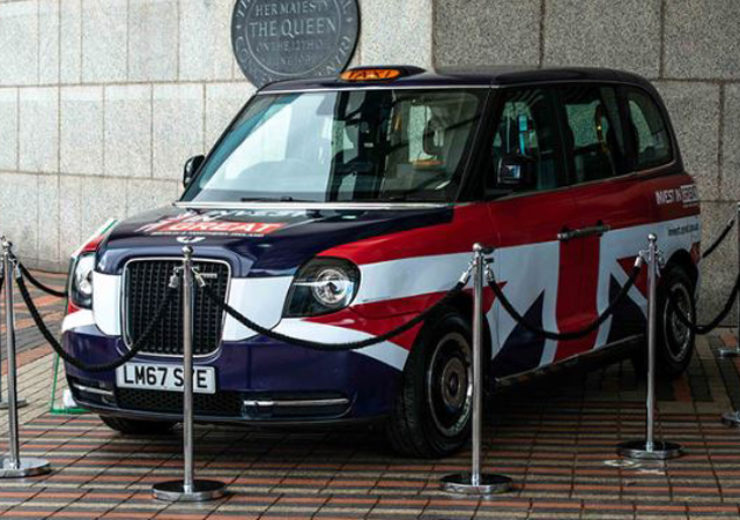 Wireless charging electric taxis