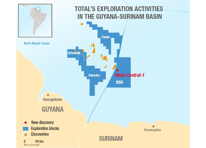 Apache, Total make significant oil discovery offshore Suriname