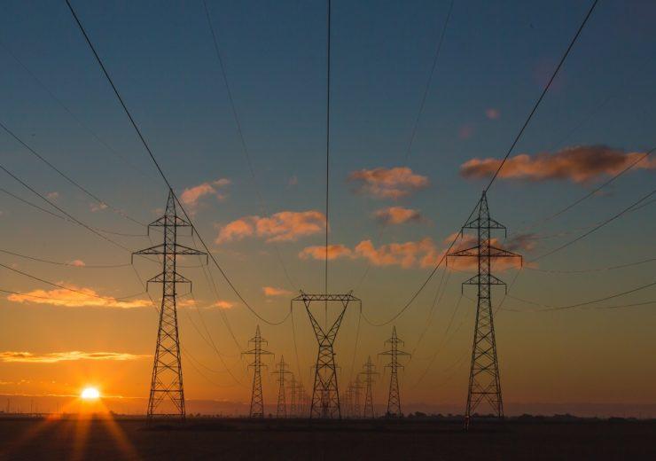 power lines grid