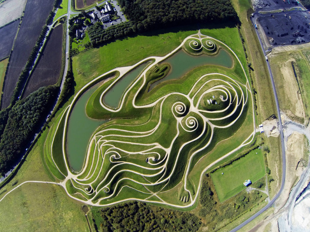 The Northumberlandia public art installation, also known as The Lady of the North