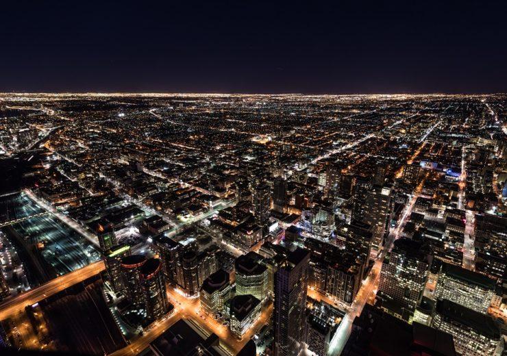 city lights grid