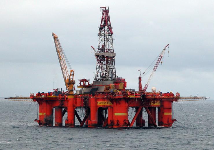 North Sea oil platform WC Erik Christensen