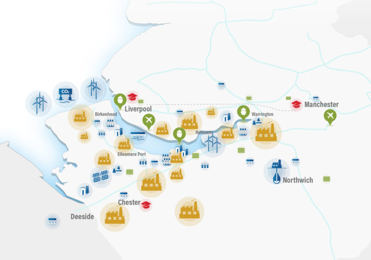 North West Energy and Hydrogen Cluster map