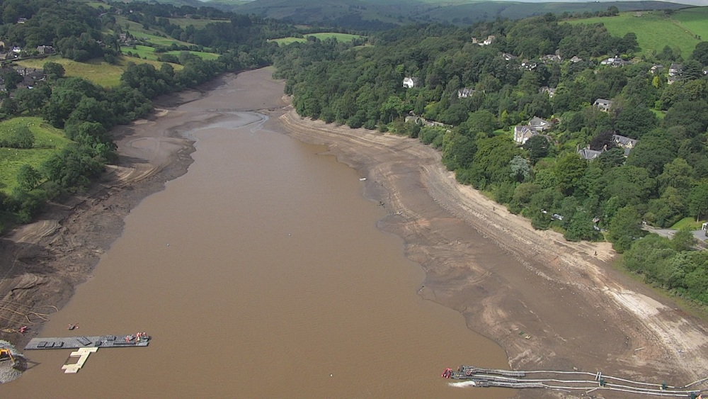 Toddbrook reservoir drawdown