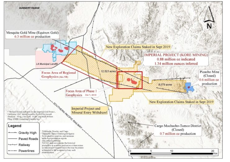 Kore Mining-Kore Mining Defines Gold Exploration Targets Adjacen