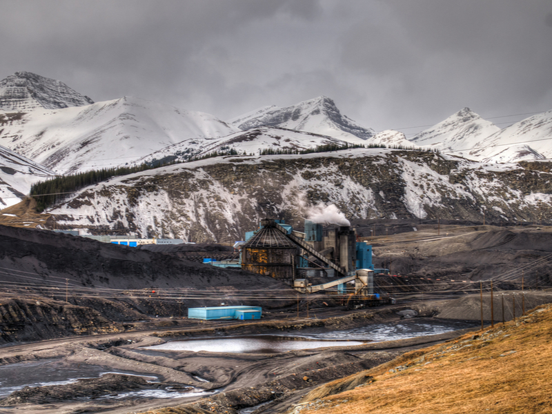 Canada_Coal Mine in the mountains, Alberta Canada-by BGSmith