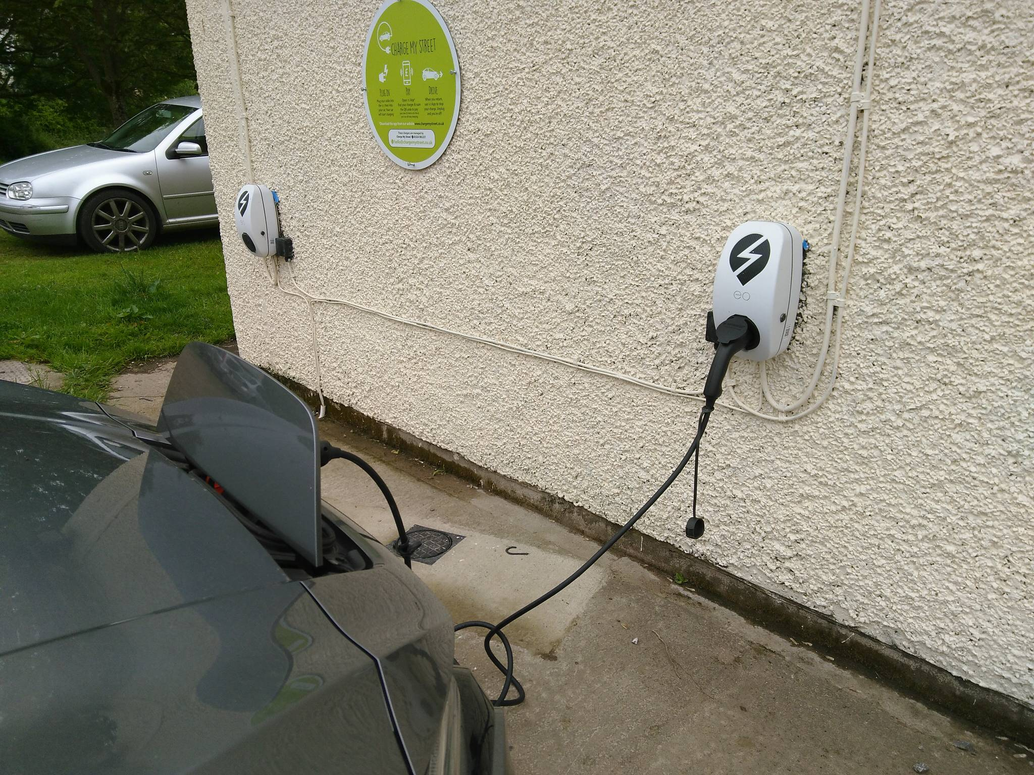 Electric vehicle charging rural