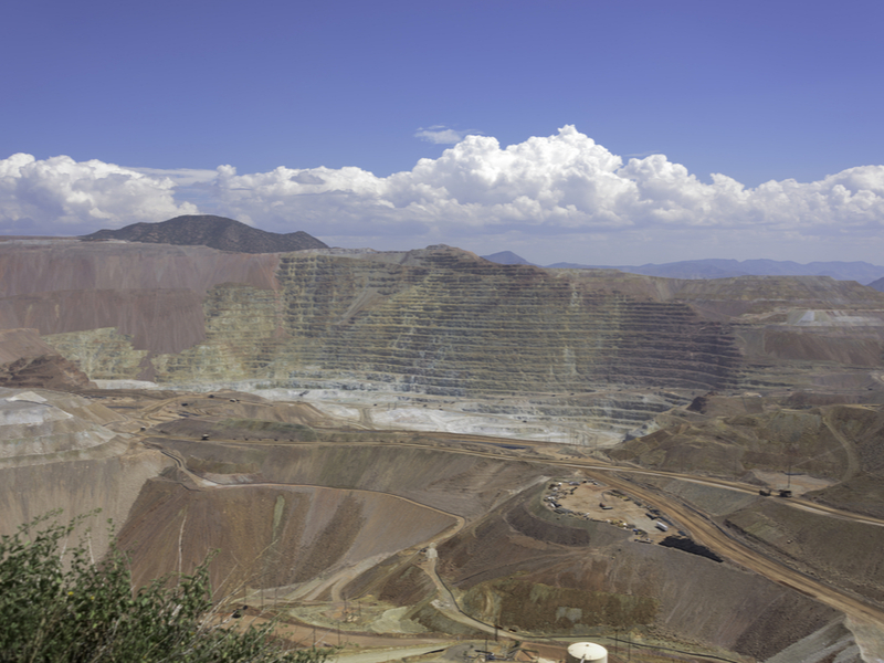 Gold mining-Large gold copper and ore pit strip mine in Morenci Arizona-Greatsnapz