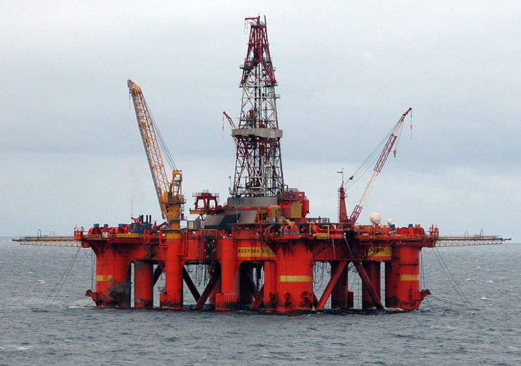 North Sea oil platform WC Erik Christensen