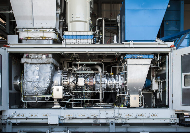 La turbina NovaLT12 di Baker Hughes nello stabilimento di Firenze