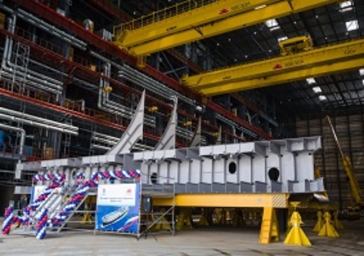 Keel laid for Aframax Tanker at Zvezda Shipbuilding Complex