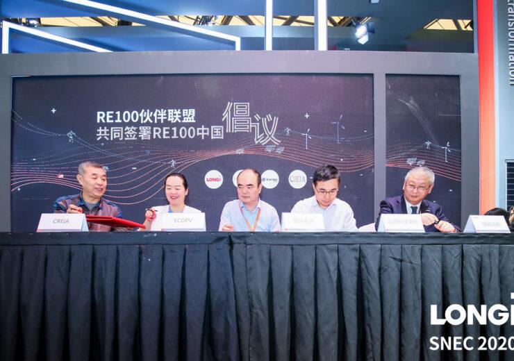 LONGi Green Energy Technology Signing-the-RE100-China-Initative