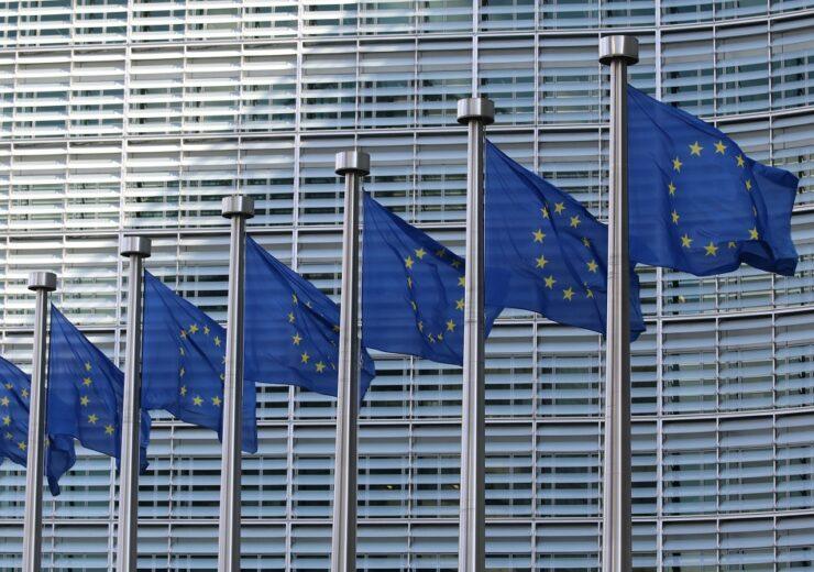 European Union EU flags