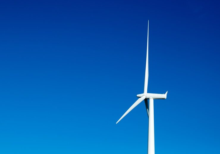 wind turbine blue