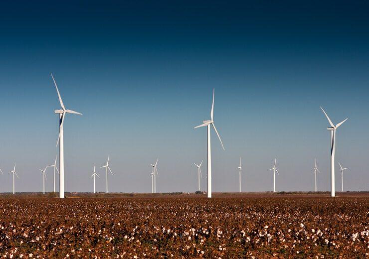 A,Wind,Turbine,Farm,In,A,Cotton,Field,In,Rural