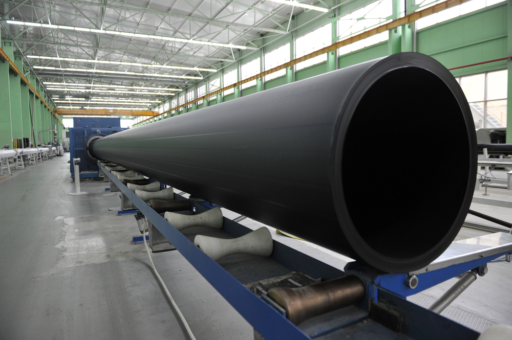 Polyethylene thermoplastic pipe