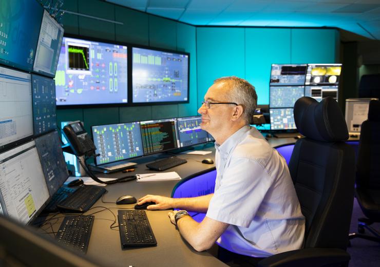 Drax plant control room