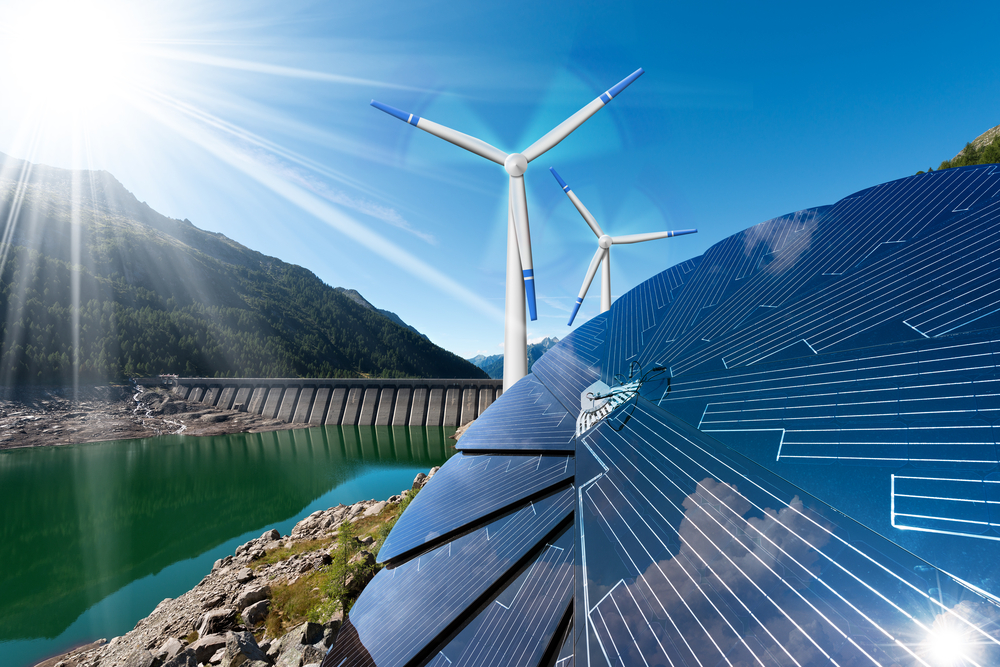 What are the six different types of renewable energy technologies?