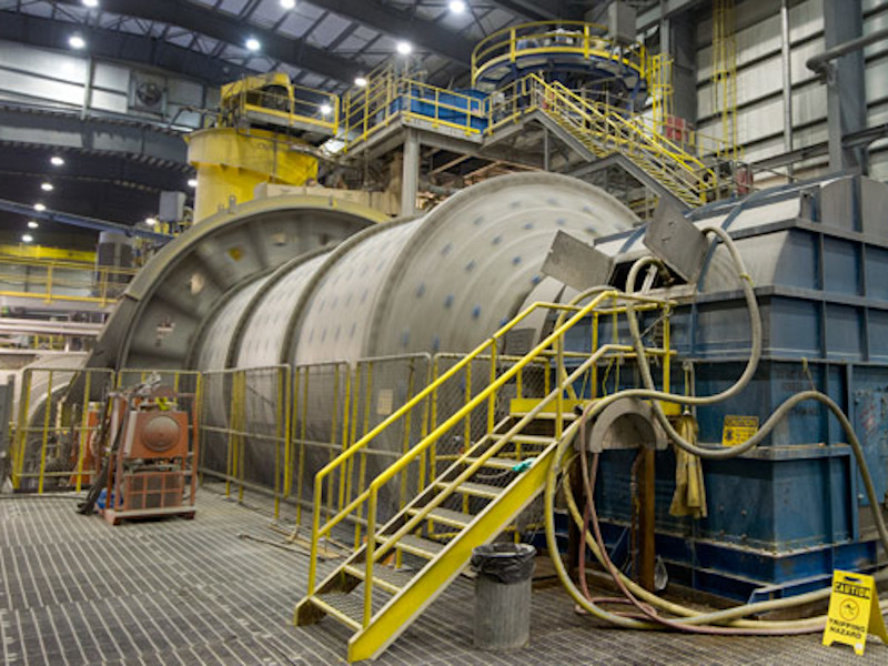 Image of processing equipment at New Afton gold mine